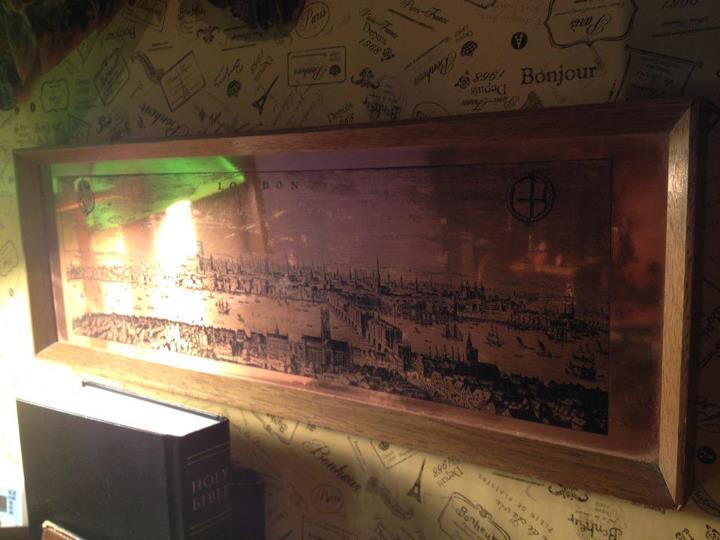 インテリア小物:昔のロンドンの様子が描かれた銅版画