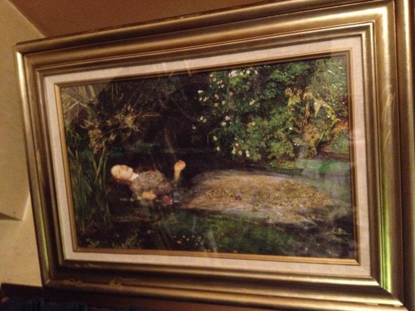 19世紀のイギリスの画家:ジョン・エヴァレット・ミレーの複製画「オフィーリア」