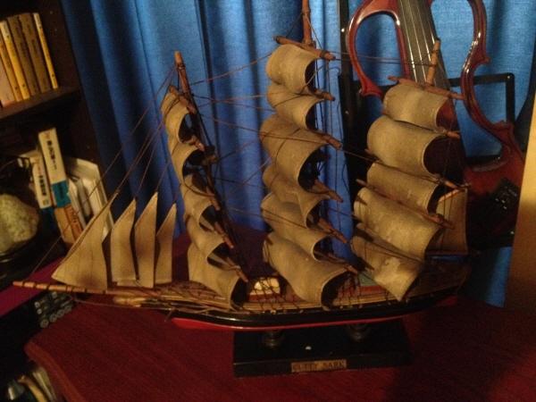 イギリス快速帆船『カティサーク号』の帆船模型