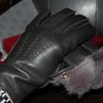 英国製DENTS(デンツ)の鹿皮ディアスキン・ラビットファー・ライニングの革手袋・レザーグローブ