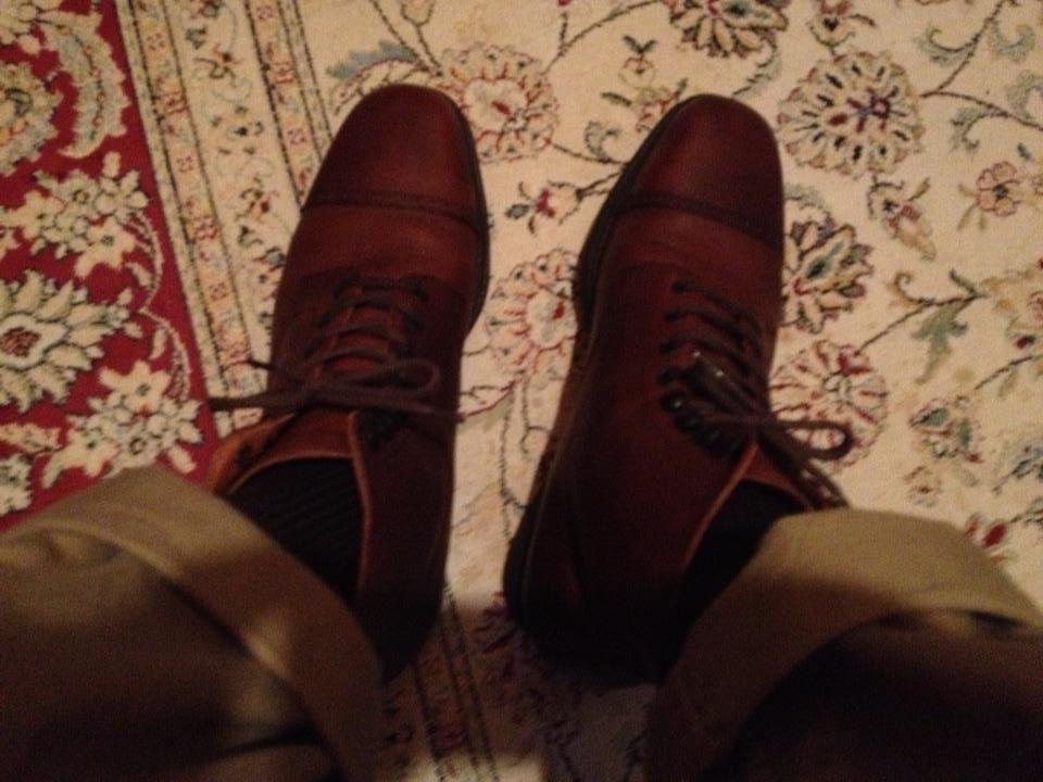チャーチ(church's)のブーツを久しぶりにメンテして散歩へ。