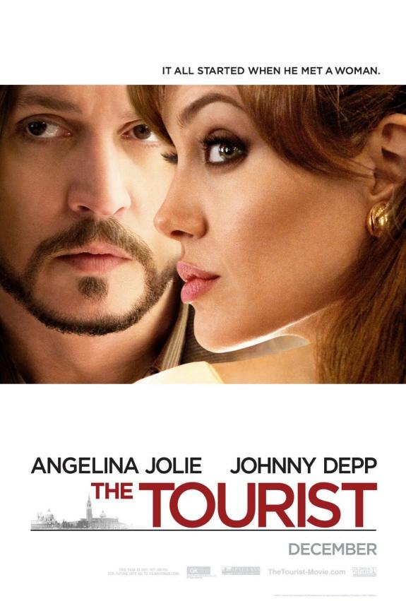 アンジェリーナ・ジョリー&ジョニー・デップ出演の映画『ツーリスト』のポスター
