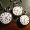銀製の懐中時計(英国製のJ.W.BENSON/J.W.ベンソン)を磨きました。