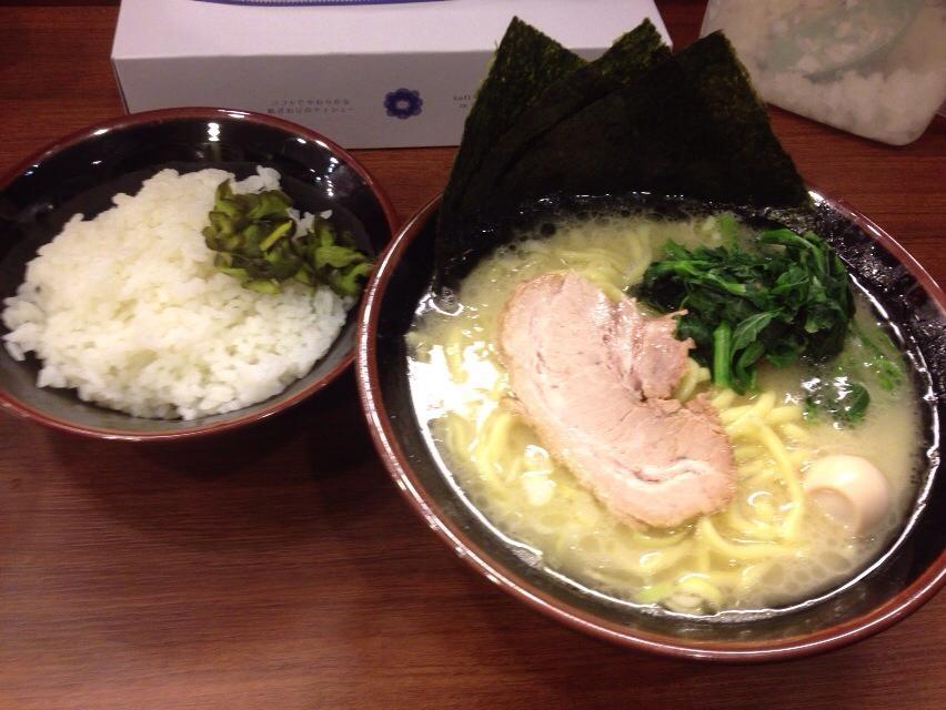 綱島商店の塩とんこつラーメン(650円)