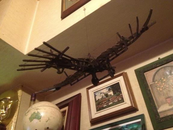 イゴー・エトリッヒが開発した飛行機『タウベ』の模型