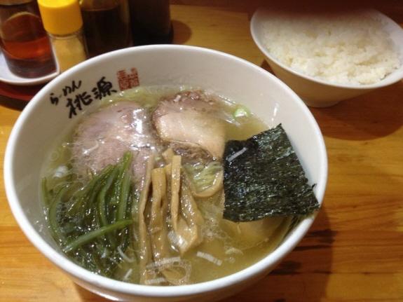 綱島・樽町のらーめん桃源さんの塩ラーメン(690円)