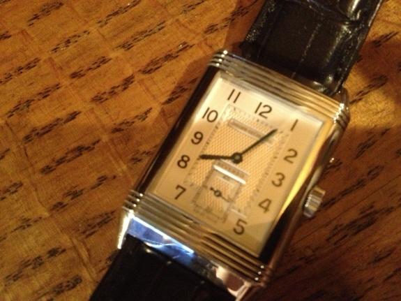 ジャガー・ルクルトの腕時計『レベルソデュオ』文字盤のアップ