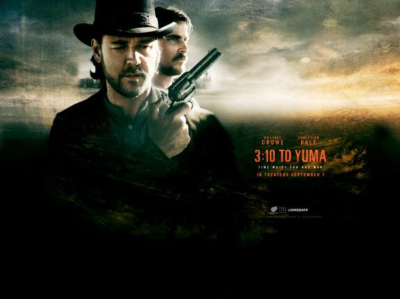 ラッセル・クロウ&クリスチャン・ベール出演の西部劇『3時10分、決断のとき(原題: 3:10 to Yuma)』の画像