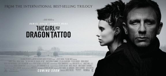 ダニエル・クレイグ出演の『ドラゴン・タトゥーの女(現代:The Girl with the Dragon Tattoo)』プロモーション画像