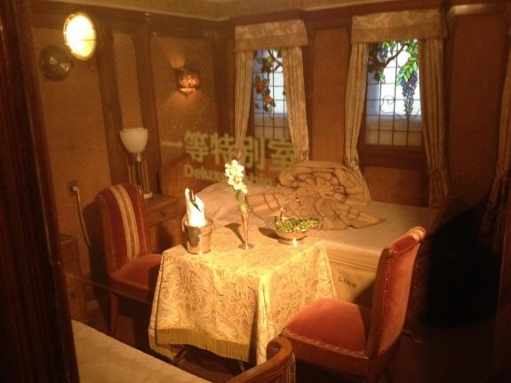 氷川丸の内装。客室その2
