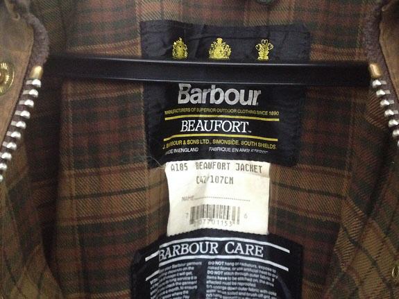 Barbour(バブアー/バーヴァー)のオイルドジャケット【BEAUFORT(ビューフォート)】サイズ42(身幅107cm)