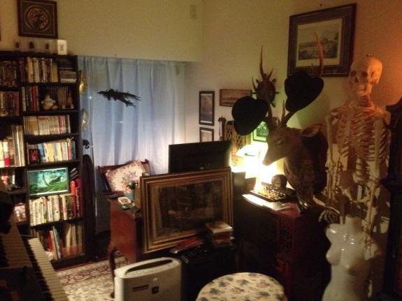 新居の書斎をヴンダーカンマー&英国紳士風にしようと目指しています。
