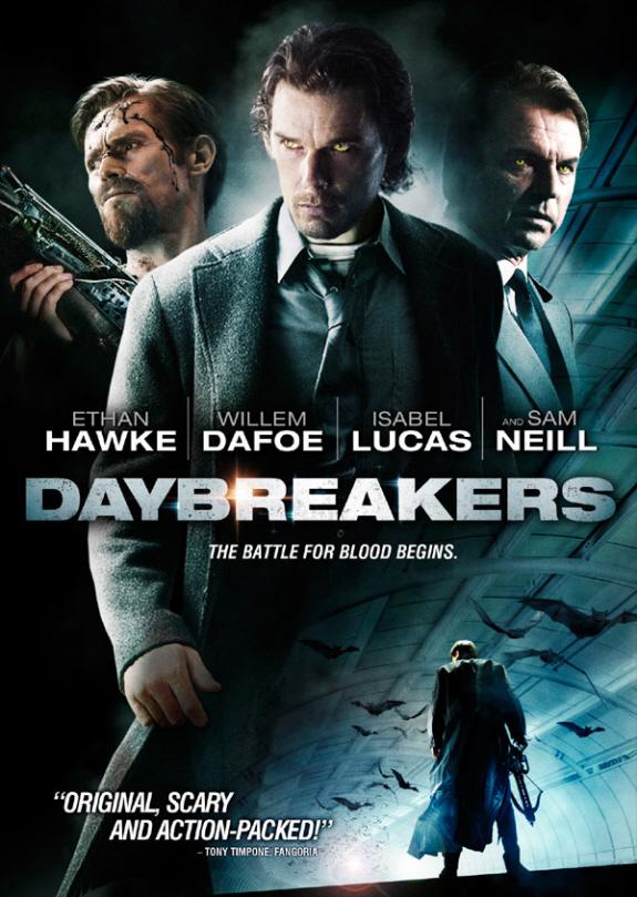 イーサン・ホーク主演、ウィレム・デフォー出演のホラー映画『デイブレイカー(原題: Daybreakers)』パッケージ写真