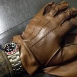 英国製Dunhill(ダンヒル)の革手袋・レザーグローブ