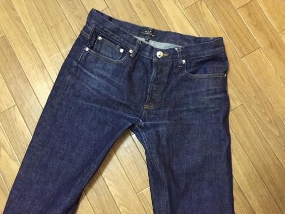 洗濯後!デニムのエイジング・色落ち記録5:A.P.C.(アーペーセー)のジーンズ【プチニュースタンダード】