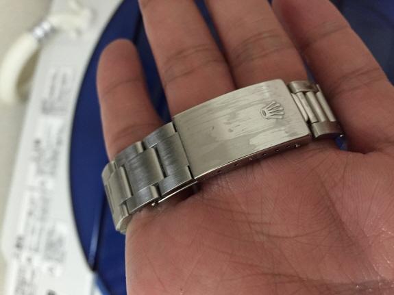 超音波洗浄器で腕時計(ロレックス)洗浄完了!