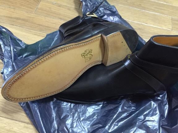 英国靴:グレンソン(Grenson)ジョッパーブーツの革底