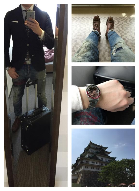 グローブ・トロッター (GLOBE-TROTTER)を携えて名古屋旅行