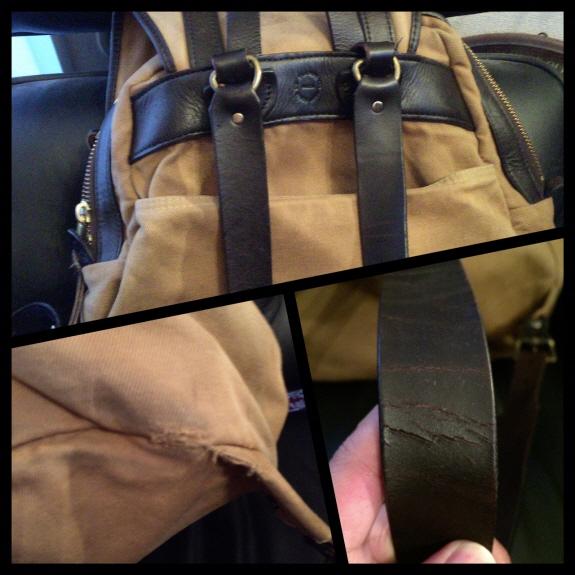 バッグのエイジング・色落ち記録3:FILSON(フィルソン)のリュックサック2