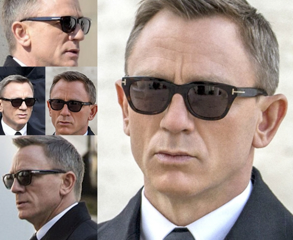 007のスペクターでダニエル・クレイグ演じるジェームズ・ボンドが着用していたトムフォードのサングラス
